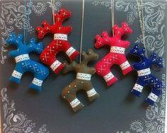 Новый год 2014 ручной работы. Ярмарка Мастеров - ручная работа Елочные игрушки из фетра. Handmade.