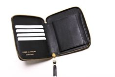 Black SA2100 Classic Full Zip Wallet - COMME des GARÇONS