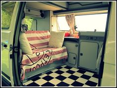 VW; ahhhhh yesss!!!! when i get my hippie van, its gonna have this floor. <333