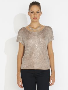 short-sleeve sequin knit from [portmans]