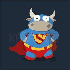 SuperCow - Camisetas con este y otros diseños en Karakatu.com