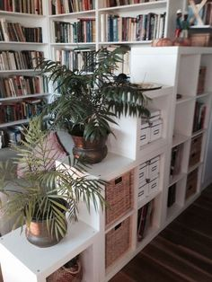 15 Super Smart Ways to Use the IKEA Kallax Bookcase 15 Super Smart Ways to Use the IKEA Kallax Bookcase (possible way to add an 'entryway' to living room?) The post 15 Super Smart Ways to Use the IKEA Kallax Bookcase appeared first on Raumteiler ideen. Ikea Kallax Bookshelf, Ikea Expedit, Ikea Shelves, Ikea Storage, Storage Room, Ikea Living Room Storage, Corner Shelf Ikea, Ikea Shelf Hack, Ikea Office Hack