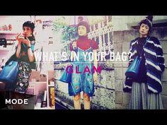 収納力抜群のバケツバッグ。鮮やかな紺色のショルダーバッグの中身は?/What's In Your Bag Mode x IZUMI - YouTube
