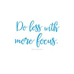 Do less with more fo
