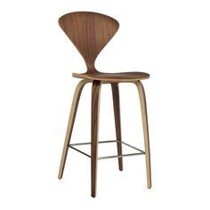 Reproduction of Norman Cherner Counter Stool. The classy counter stool that your home is missing; the Norman Cherner counter stool reproduction is the stool th Wood Bar Stools, Counter Height Stools, Bar Chairs, Dining Chairs, Island Stools, Kitchen Stools, Wood Chairs, Bar Counter, Kitchen Cabinetry