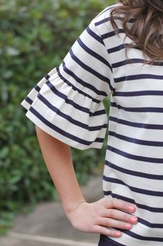 J.Crew Ruffle Sleeve Detail                                                                                                                                                                                 More