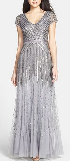 Art deco inspired gown by Adrianna Papell - gala inspiration