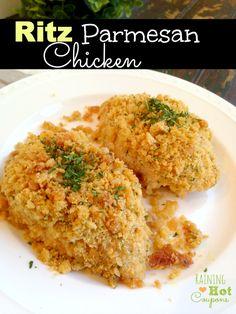 Ritz Parmesan Chicken Recipe - SO easy and DELICIOUS!