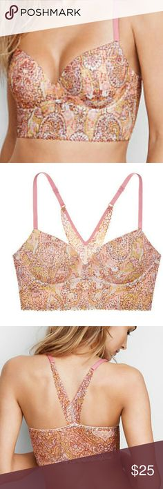 New nwt Victorias Secret lace easy pushup bra 34b New in bag, new with tags, 'large Paisley warm print' Victorias secret Intimates & Sleepwear Bras