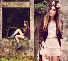 Mondabelle Dress, Made By Me! <3 Headpiece - By: Flávia - http://fashioncoolture.com.br