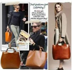 Worn By celebrities everywhere ... It's time for you to purchase this divine butter caramel tote! Gorgeous for every occasion! #fashion