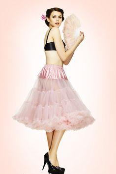 f256ee3c72 50s retro Petticoat chiffon Dolly Pink
