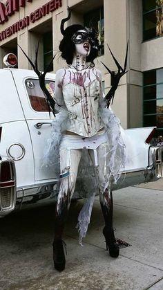 Halloween Costume by Lauren Marie Demon Halloween Costume, Demon Costume, Scary Costumes, Halloween Inspo, Halloween Costume Contest, Halloween Makeup Looks, Fantasy Costumes, Halloween Kostüm, Cosplay Costumes