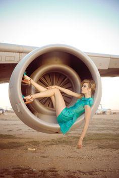 Pan Am eine Haute Couture Haute Couture Fotografie Kunst Drucken Farbe Fashion Fotografie Mode Magazin redaktionelle Flugzeug