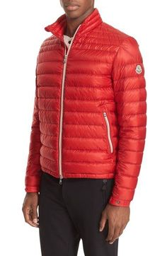 MONCLER Daniel Channel Quilted Down Jacket. #moncler #cloth #
