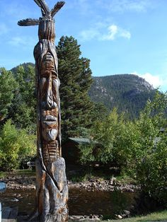 Totem Pole in Estes Park, Colorado. Great Colorado town to visit.