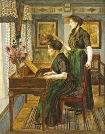 Walter Firle, Music lesson