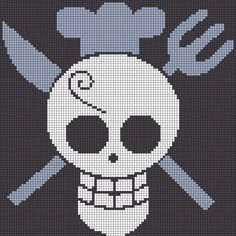 Sanji's Pirate Mark - One Piece perler bead pattern