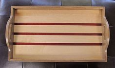 Wood Serving Tray by JonsWoodworks on Etsy, $50.00