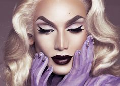 Miss Fame - SuperNatural Blonde for my makeup tutorial. Photographed by Marcelo Cantu