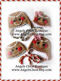 Gingerbread Cookie Crochet Hat Pattern Size Newborn от AngelsChest