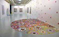mesmerizing floor installations by Suzan Drummen - Art People Gallery
