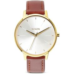 Nixon The Kensington Watch, 37mm (405 BRL) ❤ liked on Polyvore featuring jewelry, watches, nixon wrist watch, vintage style watches, nixon jewelry, vintage style jewellery and oxford jewelry