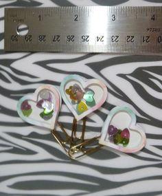 Handmade Heart Planner Bookmark Paperclips by LuminaSpiritCreation on Etsy