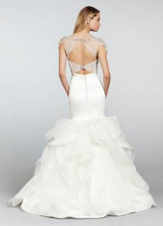 GASP!! mermaid wedding dress with sheer cut-out back