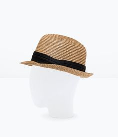 Imagen 2 de Sombrero paja contraste cinta de Zara 36bab2be622