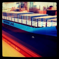 Maersk Lima. The scale model, of course.