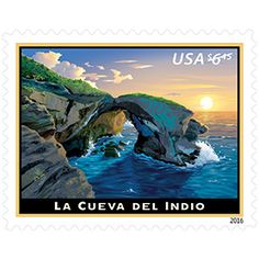 La Cueva del Indio   Puerto Rico  US Priority Mail Stamp  Issue Date:  Jan 17, 2016