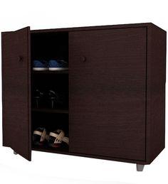 Orbit Two Door Shoe Rack by Housefull by Housefull Online - Engineered Wood - Furniture - Pepperfry Product