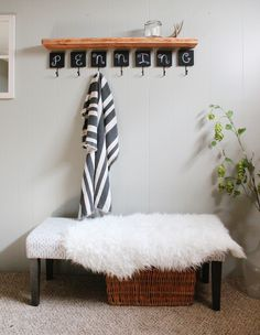 Entryway Updates For Under $100 +  A Styling Trick | http://www.hammerandheelsblog.com/entryway-updates-a-styling-trick/