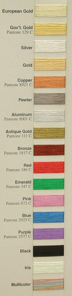 J Metallic Color Card
