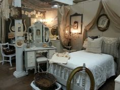 Shabby chic vintage booth display