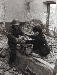 David Seymour. Children, Spanish Civil War