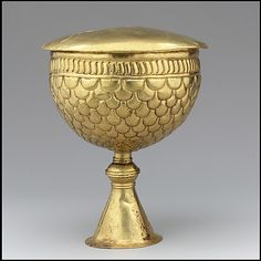 Gold Goblet and Cover ca 700  Byzantine or Avar,in gold