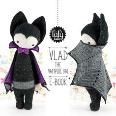 VLAD the Vampire Bat Amigurumi Crochet Doll Pattern ($6.32)  | lalylala, on Etsy.