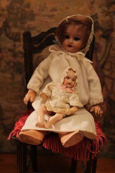 """NBpoupéesanciennes NBcréations handmade clothes NBcréations blog""""trotinette-et-coccinelle""""antique bisque doll, parisiennes Gauthier Parian Celluloid doll house"""