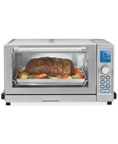 Cuisinart Deluxe Convection Toaster Oven Broiler, Brushed Stainless - Refurbished w/Extended Warranty Home Garden Kitchen Dining Kitchen Appliances Toasters Grills Toasters Stainless Steel Oven, Safety Valve, Thing 1, Microwave Oven, Fun Cooking, Basic Cooking, Cooking Time, Small Kitchen Appliances, Cooking Utensils