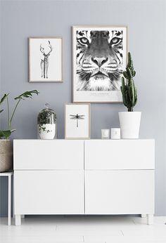 Tavelkollage med tiger
