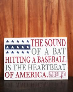 The Sound of a bat hitting a baseball is the heartbeat of America. | Baseballism