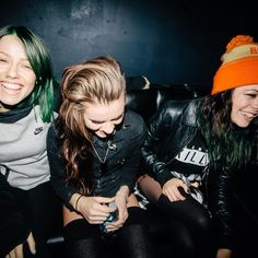 Jenna Mcdougall (Tonight Alive), Lyndsey Gunnulfsen (PVRIS), and Tay Jardine (We Are In The Crowd)