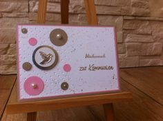 Kommunion Card made for a girl