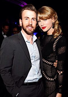 Taylor Swift and Chris Evans. I ship it!