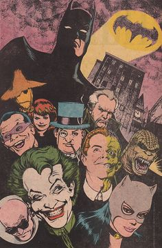 Batman and his foes by Kevin Maguire