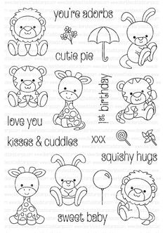 Clearly Besotted Clear Stamp Set - Petite Plushies (CLBT235)