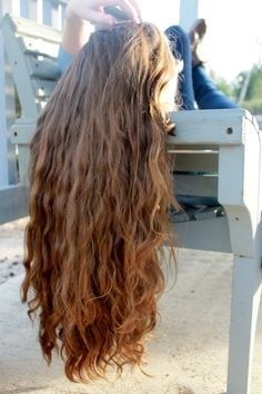 Beautifully long and wavy