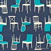 Perfectly Perched Chairs in Steel by laurie Wisbrun for Robert Kaufman Fabrics AWN-128451-185